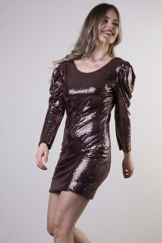 DRESS WITH CLASSES AND INCREASE MANIKIES (Pink)