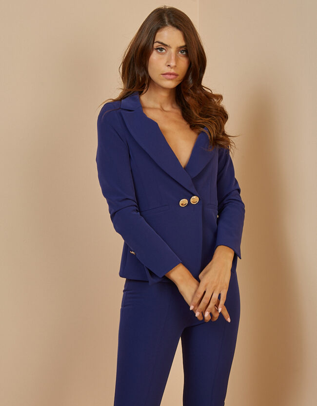 JACKAKY WITH DOUBLE BUTTON (Blue Rouw)