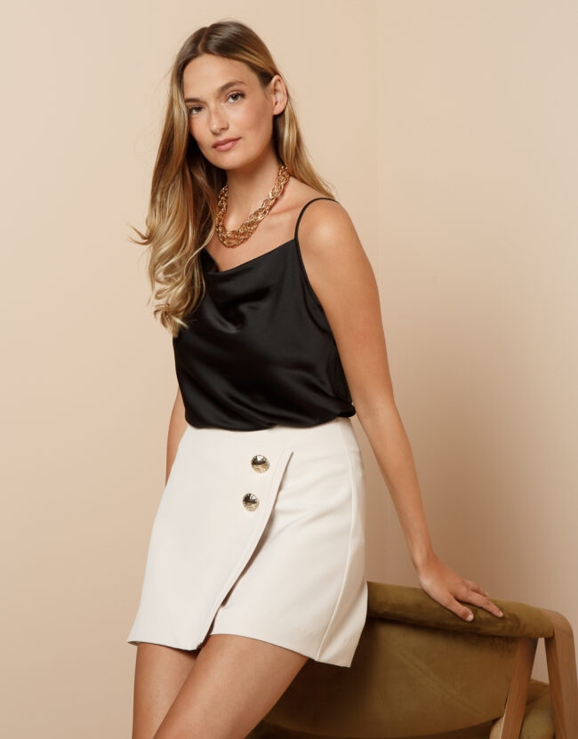Monochrome SKORTS WITH BUTTONS
