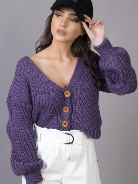 Oversized Knitted Zaceta with Inflatable MANIKIES (Purple)