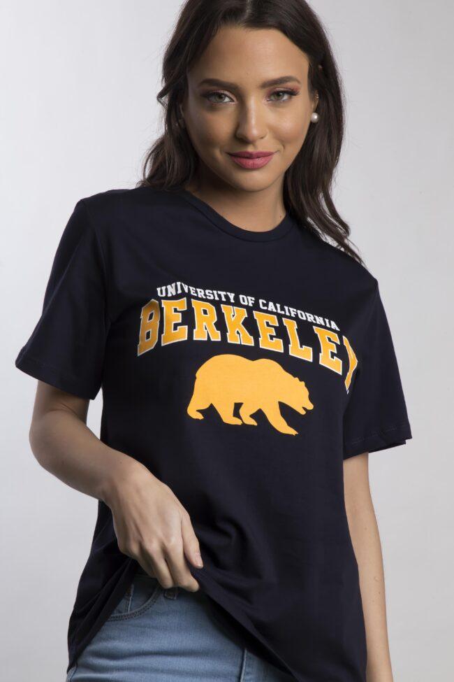 """T-SHIRT """"BERKELEY"""" (ΜΑΥΡΟ)"""