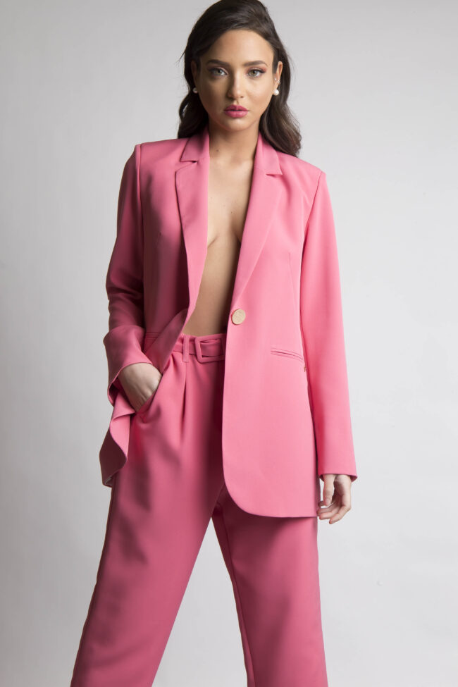 Cigarette Pants with ZONE (Pink)