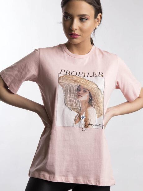 "T-SHIRT ""PROFILER"" (ΡΟΖ)"