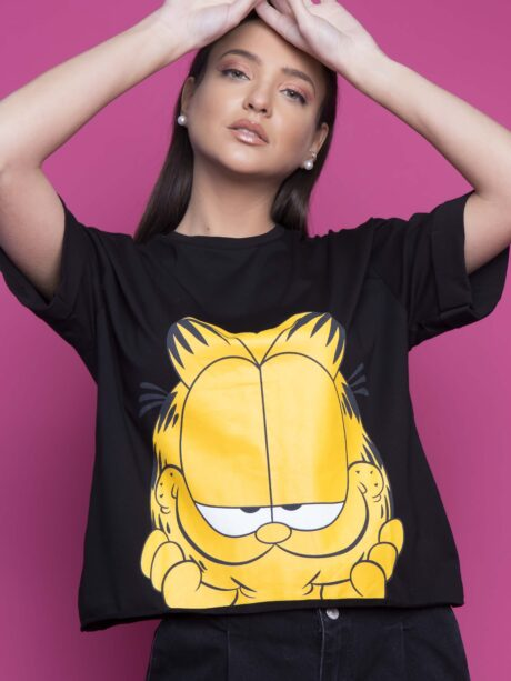 T-SHIRT GARFIELD (ΜΑΥΡΟ)